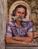Άτομο με επιμελημένο mustache Στοκ Εικόνες