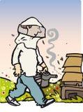 Άτομο μελισσών Στοκ εικόνα με δικαίωμα ελεύθερης χρήσης