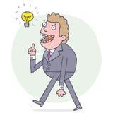 Άτομο με μια ιδέα Στοκ εικόνα με δικαίωμα ελεύθερης χρήσης