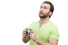 Άτομο με μια κάμερα Στοκ φωτογραφία με δικαίωμα ελεύθερης χρήσης