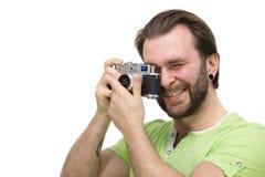 Άτομο με μια κάμερα Στοκ Εικόνες