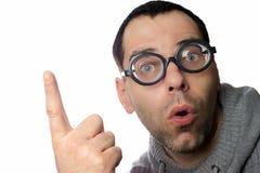 Άτομο με τα γυαλιά Στοκ φωτογραφία με δικαίωμα ελεύθερης χρήσης