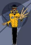 Άτομο με τα εκφραστικά χέρια διανυσματική απεικόνιση