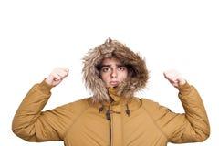 Άτομο με τα θερμά ενδύματα Στοκ Φωτογραφία