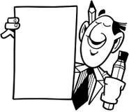 Άτομο με τα κινούμενα σχέδια διανυσματικό Clipart προτύπων σημαδιών Στοκ Φωτογραφία