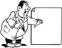 Άτομο με τα κινούμενα σχέδια διανυσματικό Clipart προτύπων σημαδιών Στοκ Εικόνα