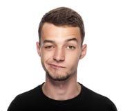 Άτομο με τα μάτια του που διασχίζονται Στοκ φωτογραφία με δικαίωμα ελεύθερης χρήσης