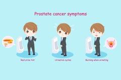 Άτομο με τα προστατικά συμπτώματα διανυσματική απεικόνιση