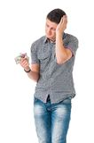 Άτομο με τα χάπια Στοκ φωτογραφίες με δικαίωμα ελεύθερης χρήσης