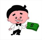 Άτομο με τα χρήματα Στοκ φωτογραφία με δικαίωμα ελεύθερης χρήσης