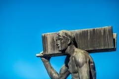 άτομο με την ακτίνα χάλυβα Στοκ φωτογραφίες με δικαίωμα ελεύθερης χρήσης