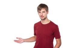 Άτομο με την ανοικτή παλάμη χεριών στοκ εικόνα με δικαίωμα ελεύθερης χρήσης