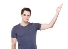 Άτομο με την ανοικτή παλάμη χεριών στοκ φωτογραφία με δικαίωμα ελεύθερης χρήσης