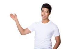 Άτομο με την ανοικτή παλάμη χεριών στοκ εικόνες