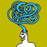 Άτομο με την ιδέα που αφήνει το κεφάλι του Στοκ Εικόνα