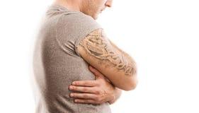 Άτομο με τη δερματοστιξία Στοκ Εικόνα
