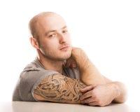 Άτομο με τη δερματοστιξία Στοκ φωτογραφίες με δικαίωμα ελεύθερης χρήσης