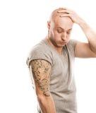 Άτομο με τη δερματοστιξία Στοκ φωτογραφία με δικαίωμα ελεύθερης χρήσης