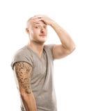 Άτομο με τη δερματοστιξία Στοκ εικόνα με δικαίωμα ελεύθερης χρήσης