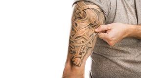 Άτομο με τη δερματοστιξία Στοκ Φωτογραφία