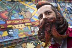 Άτομο με τη μακριά γενειάδα και mustache Στοκ Εικόνα