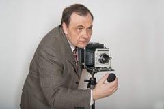 Άτομο με τη φωτογραφική μηχανή Στοκ φωτογραφία με δικαίωμα ελεύθερης χρήσης