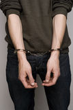 Άτομο με τις χειροπέδες Στοκ Φωτογραφίες