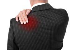 Άτομο με τον πόνο στην πλάτη Στοκ φωτογραφίες με δικαίωμα ελεύθερης χρήσης
