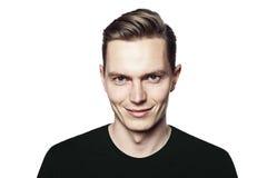 Άτομο με το ειρωνικό χαμόγελο Στοκ φωτογραφία με δικαίωμα ελεύθερης χρήσης