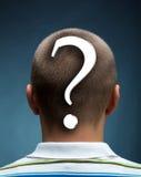 Άτομο με το ερωτηματικό Στοκ εικόνα με δικαίωμα ελεύθερης χρήσης
