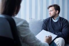 Άτομο με το διανοητικό πρόβλημα Στοκ φωτογραφία με δικαίωμα ελεύθερης χρήσης