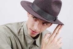 Άτομο με το καπέλο Στοκ Εικόνα