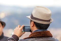Άτομο με το καπέλο στοκ εικόνες