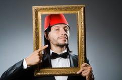 Άτομο με το καπέλο του Fez Στοκ εικόνα με δικαίωμα ελεύθερης χρήσης