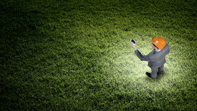 Άτομο με το κινητό τηλέφωνο Στοκ Φωτογραφία