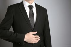 Άτομο με το κοστούμι Στοκ εικόνα με δικαίωμα ελεύθερης χρήσης