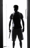 Άτομο με το μαχαίρι στοκ φωτογραφία με δικαίωμα ελεύθερης χρήσης