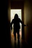 Άτομο με το μαχαίρι Στοκ Φωτογραφία