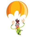 Άτομο που πέφτει με το parachutte Στοκ Φωτογραφίες