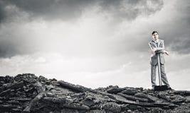 Άτομο με το σφυρί Στοκ φωτογραφίες με δικαίωμα ελεύθερης χρήσης