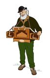 Άτομο με το όργανο βαρελιών διανυσματική απεικόνιση