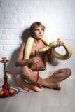 Άτομο με το python Στοκ Εικόνα