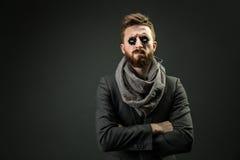 Άτομο με δύο τσιπ pocker στα μάτια Στοκ Εικόνα