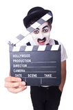 Άτομο με clapper κινηματογράφων Στοκ Φωτογραφία