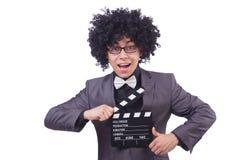 Άτομο με clapper κινηματογράφων Στοκ φωτογραφία με δικαίωμα ελεύθερης χρήσης