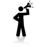 Άτομο με megaphone ελεύθερη απεικόνιση δικαιώματος