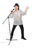 Άτομο με mic που απομονώνεται Στοκ εικόνα με δικαίωμα ελεύθερης χρήσης