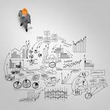 Άτομο μηχανικών και η επιχειρησιακή στρατηγική του Στοκ Εικόνα