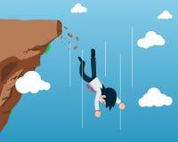 Άτομο 1 μισθών που πέφτει κάτω στοκ φωτογραφία