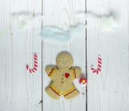 Άτομο μπισκότων μελοψωμάτων Στοκ Φωτογραφία